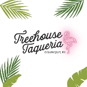 This is the restaurant logo for Treehouse Taqueria