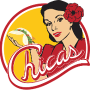 This is the restaurant logo for Chicas Tacos