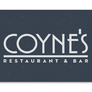 This is the restaurant logo for Coyne's Restaurant & Bar