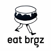 This is the restaurant logo for Eat Brgz