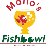 This is the restaurant logo for Mario's Fishbowl
