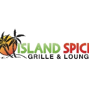 This is the restaurant logo for Island Spice Grille & Lounge