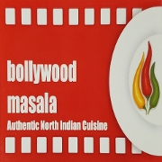 This is the restaurant logo for Bollywood Masala