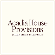 This is the restaurant logo for Acadia House Provisions