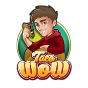This is the restaurant logo for TACO WOW