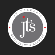 This is the restaurant logo for JT Walker's Restaurant & Brewery