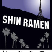 This is the restaurant logo for Shin Ramen Hollywood