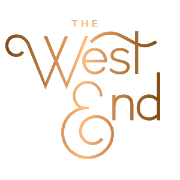 This is the restaurant logo for The West End
