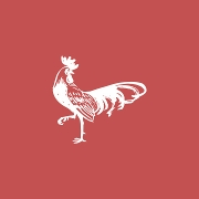 This is the restaurant logo for Rooster's A Noble Grille