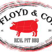 This is the restaurant logo for Floyd & Company - Real Pit BBQ