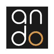 This is the restaurant logo for Ando Sushi + Bar