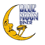 This is the restaurant logo for Blue Moon Diner