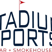This is the restaurant logo for Stadium Sports