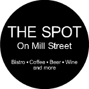This is the restaurant logo for The Spot on Mill Street