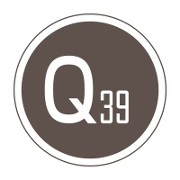 This is the restaurant logo for Q39