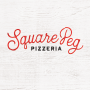 This is the restaurant logo for SQUARE PEG PIZZERIA