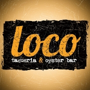 This is the restaurant logo for Loco Taqueria & Oyster Bar