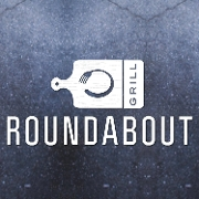 This is the restaurant logo for Roundabout Grill