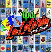 This is the restaurant logo for La Loteria Taqueria