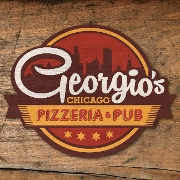 This is the restaurant logo for Georgio's Chicago Pizza
