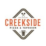 This is the restaurant logo for Creekside Pizza & Taproom