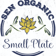 This is the restaurant logo for Sen Organic Small Plate