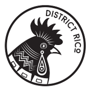 This is the restaurant logo for District Rico