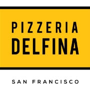 This is the restaurant logo for Pizzeria Delfina