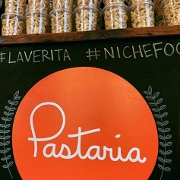 This is the restaurant logo for Pastaria