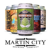 This is the restaurant logo for Martin City Brewing Company Pizza & Taproom