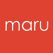 This is the restaurant logo for Maru Sushi & Grill