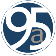This is the restaurant logo for 95a Bistro & Sushi