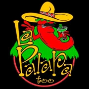This is the restaurant logo for La Palapa Too