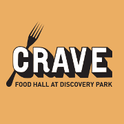 This is the restaurant logo for Crave Food Hall