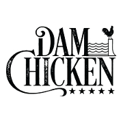 This is the restaurant logo for Dam Chicken