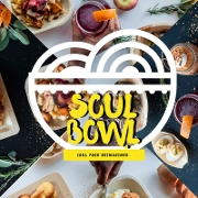 This is the restaurant logo for Soul Bowl