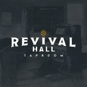 This is the restaurant logo for Revival Hall Taproom