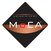This is the restaurant logo for Moca Asian Bistro