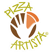 This is the restaurant logo for Pizza Artista