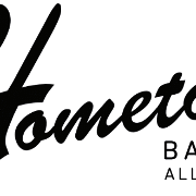 This is the restaurant logo for Hometown Barbecue
