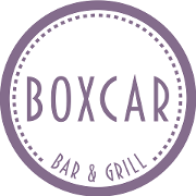 This is the restaurant logo for Boxcar Bar & Grill