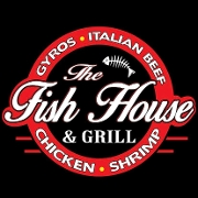 This is the restaurant logo for The Fish House & Grill
