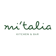 This is the restaurant logo for Mi'talia Kitchen & Bar