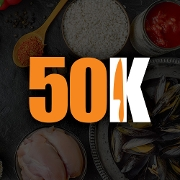 This is the restaurant logo for 50Kitchen