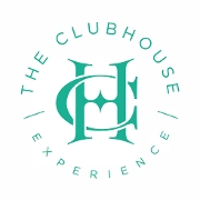 This is the restaurant logo for The Clubhouse Experience