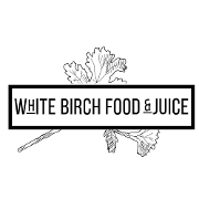This is the restaurant logo for White Birch Food & Juice