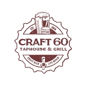 This is the restaurant logo for Craft 60 Taphouse and Grill