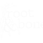 This is the restaurant logo for Root & Bone