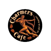 This is the restaurant logo for Charmers Cafe