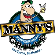 This is the restaurant logo for Manny's Mediterranean Grille